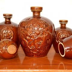 高档土陶酒瓶
